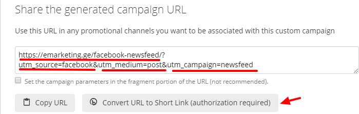 generated campaign url
